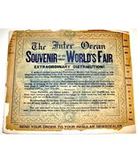 1893 Chicago World's Fair INTER OCEAN SOUVENIR Photograph Book Art Serie... - $24.98
