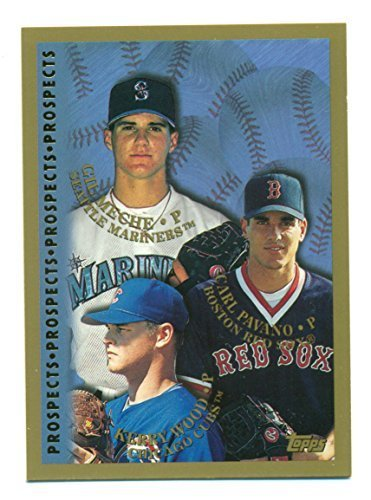 Lot of 5 1998 Prospects Kerry Wood, Carl Pavano, Gil Meche #256 - Baseball Cards