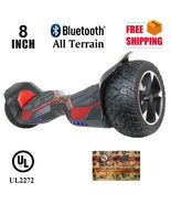 "Red All Terrain 8.5"" Red Bluetooth Off Road Hoverboard High Speed Scooter - $329.00"