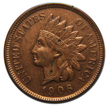 1906 Indian Head Penny / Cent Coin Lot# MZ 3597