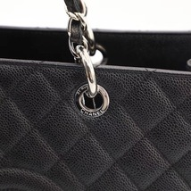 100% AUTH CHANEL BLACK QUILTED CAVIAR XL GST GRAND SHOPPING TOTE BAG  image 8