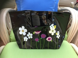 NWOT/MARC JACOBS/MARC JACOBS FRAGRANCES/VINYL TOTE/BLACK - $40.00