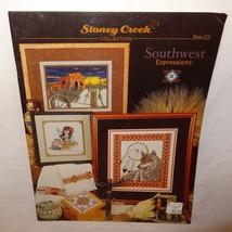 Southwest Expressions Cross Stitch Leaflet 273 Stoney Creek 2001 Cactus Sunset - $12.99
