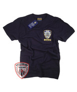 NYPD T-SHIRT NAVY BLUE SHORT SLEEVE OFFICIALLY LICENSED BY NEW YORK CITY - $18.99