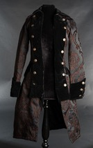 NWT Women's Brown Black Brocade Victorian Goth Vampire Pirate Jacket Reg... - $119.99