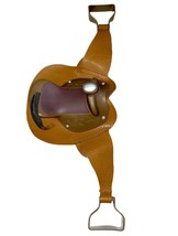 Doll Horse Saddle Fits American Girl Doll My Generation Brown - $16.34
