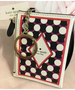 KATE SPADE NWT LUCKY DRAW CARD DECK DOUBLE ZIP COIN WALLET KEY RING FOB - $59.00