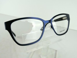 Nine West NW 1059 (434) Satin Navy / Cheetah 52 x 16 135 mm Eyeglass Frames - $51.96