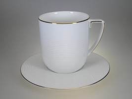 Vera Wang By Wedgwood Antibes Gold Breakfast Cup & Saucer NEW WITH TAGS - $22.72
