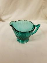 Jeannette Ultramarine Swirl Creamer Teal Depression Glass - $24.99