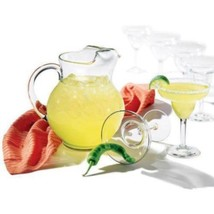 Glassware Drinking Glass Set Margarita Clear Bar Drinkware 7 Pc Drink Gl... - $29.99