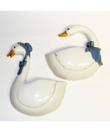 1987 Vintage Pair of White Geese / Goose Wall Pockets by Burwood - €13,06 EUR
