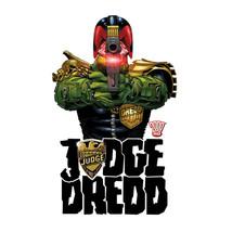 Judge Dredd Long Sleeve T-shirt cool superhero comic 100% white cotton tee JD102 image 2