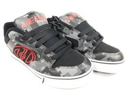 Heelys Motion Plus Size 3 M Big Kids Boy's Wheel Skate Roller Shoes Black 778088