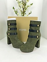 New Michael Kors Suede Platform Ankle Boot Maise Olive Green Size 9M $2... - £70.80 GBP