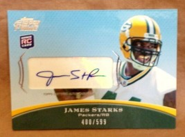 James Starks 2010 Topps Prime Rookie Autograph AUTO#400/599 PSA10?PACKERS Rb Rc - $29.69
