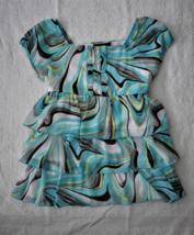 My Michelle Girl's Blue/Yellow/White/Black Ruffle Blouse - $12.00
