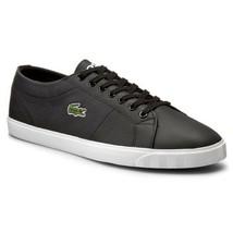 Lacoste Men's Marcel Riberac LCR3 SPM Leather Shoes Trainers - Black - $85.94