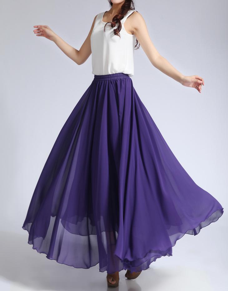 Chiffon skirt purple 3