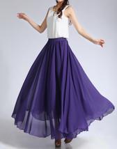 Purple Chiffon Skirt High Waisted Long Chiffon Skirt Wedding Chiffon Skirts image 3