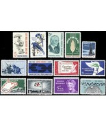 1963 Commemorative Year Set of Thirteen Mint Never Hinged Stamps - Stuar... - $5.00