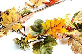 CraftMore Fall Mixed Maple Leaf Garland 6' image 2