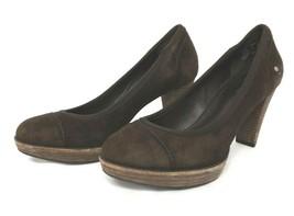 Rockport Heels Brown 6 1/2 M Suede - $16.39