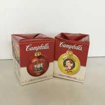 Happy Holidays from Campells collector's edition round  ornaments year 2... - $14.15