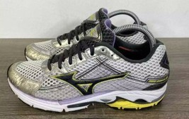 Mizuno Wave Rider 15 Running Shoes Mesh Gray Yellow Womens Size 8.5 Fast... - $44.09