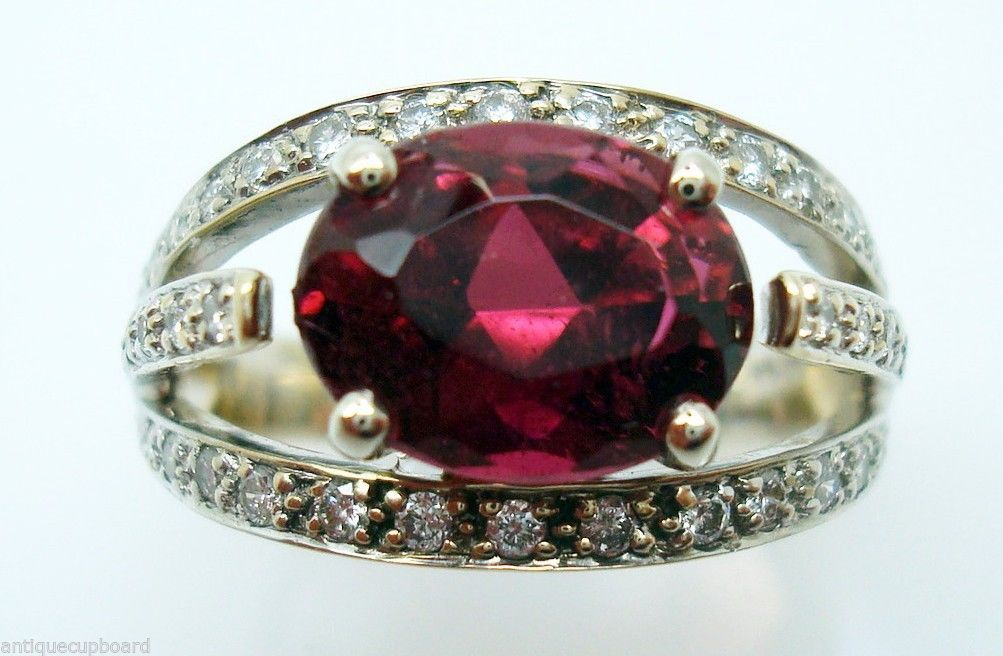 Primary image for 2.98ct Raspberry Rubellite Genuine Tourmaline Ring (#207)
