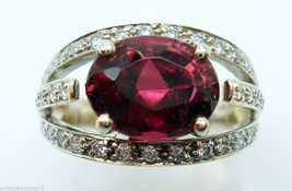 2.98ct Raspberry Rubellite Genuine Tourmaline Ring (#207) - $1,192.73
