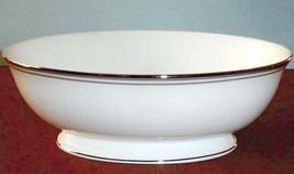 Lenox FEDERAL Platinum Slate Open Vegetable Bowl Oval Bone China USA Box... - $75.90