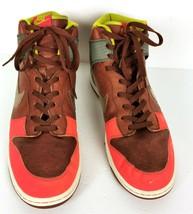 Nike Premium Blaze Hitops Sneakers Size 15 Shoes Leather Brown Orange 31... - $110.00