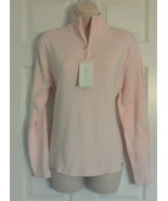 New IL Migliore 1/4 Zip Neck Pink Sweater Size Large STYLE # 71001 - $23.16