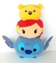 "Disney Tsum Tsum 15"" Plush Stacked Plush Pillow Winnie The Pooh Ariel St... - $12.99"