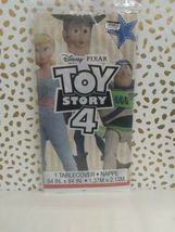 Toy Story 4 Tablecover Plastic 54 x 84 Buzz Woody Bo sealed new!!! image 6