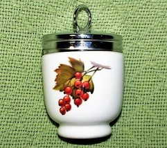ROYAL WORCESTER EGG CODDLER PLUM Red CURRANTS Porcelain JUMBO Size EVESHAM  - $16.83