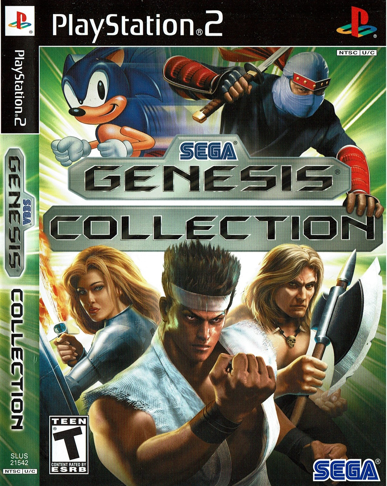 Sega Genesis Collection, Playstation 2 PS2, Game Complete (SLUS-21542)