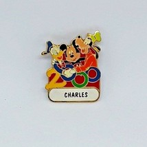"Disney Name Pin 2000 - Walt Disney World ""CHARLES"" - Donald, Mickey, Goofy - $7.87"