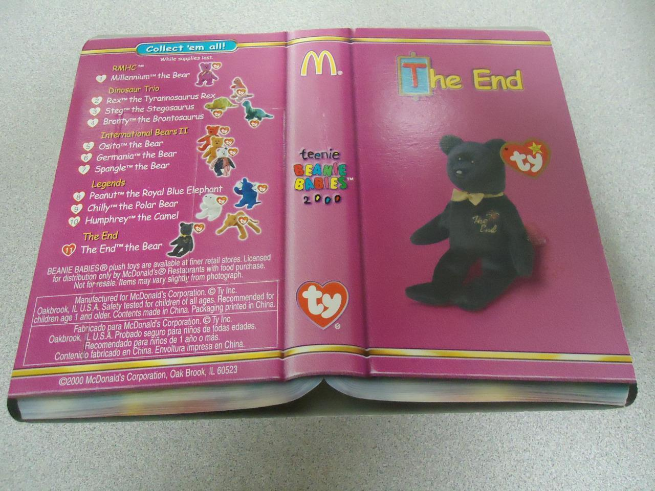 1999 Collectible McDonalds Ty Teeny Beanie Baby THE END Bear Mint New Sealed