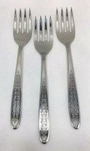 SET 3 Imperial Luxury Stainless ESPANA Flatware Salad Forks USA - $10.84