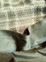 "women's Petite Sophisticate gray/white/red plaid skirt waist 30"" image 6"