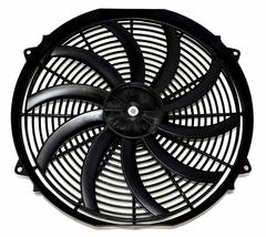 "16"" Electric Curved Blade Reversible Cooling Fan 12v 3000cfm+ Thermostat Kit image 3"