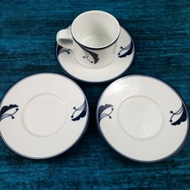 Dansk Flora Bayberry Coffee Cup Saucer Mix Match Set Japan and Portugal - $20.00