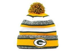 Era Green Bay Packers 2014 On Field Sport Cuffed Pom Knit Beanie Hat/Cap - $22.75