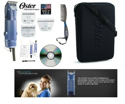 Oster A5 TURBO 2 Speed CLIPPER SET Case,10,5F&10 WIDE Blade*Horse Dog Gr... - $284.99