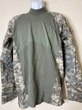 Massif Men Size L Army Combat Shirt Camo Sleeve Mountain Gear Cotton Blend - $20.52