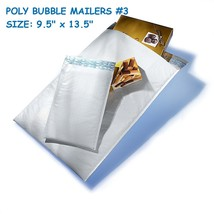 Size:#3 9.5 x 13.5 Poly Bubble Mailer Padded Shipping Envelope Self Seal... - $8.91+