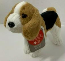 """Hallmark My Best Friend beagle w/ tag 8"""" plush puppy dog brown black white  - $12.86"""