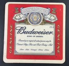 Budweiser Beer Bar Coaster - Genuine King Of Beers Nos - $3.95